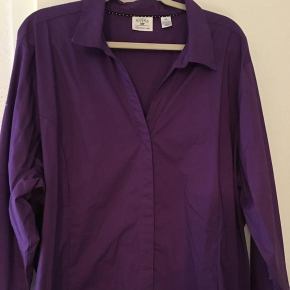 652473e4 Lee Tops | Ladies Purple Button Down Blouse Sz 4x | Poshmark